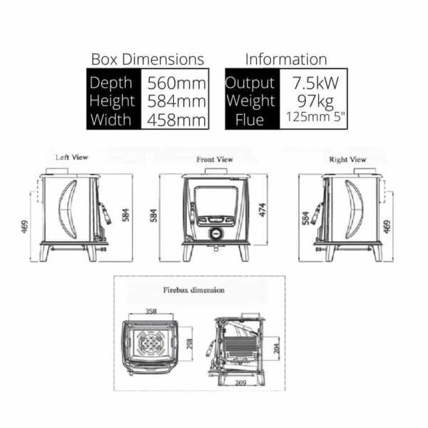 Ashford Stove Dimensions
