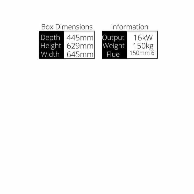 Glenveagh 16 Stove Dimensions